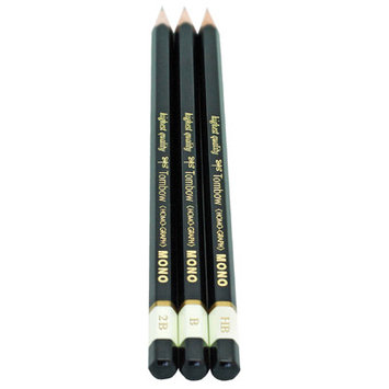 American Tombow Mono Professional 3 Piece Drawing Pencil Set (Set of 6)