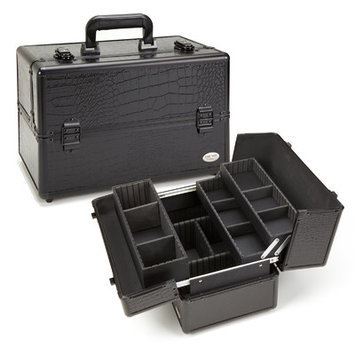 Seya All Black Gator Professional Makeup Case