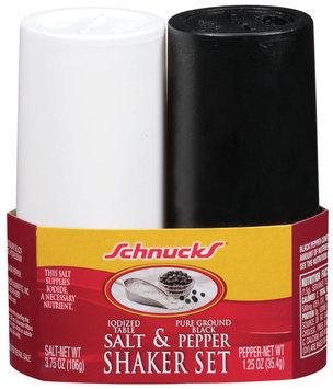 Schnucks Salt & Pepper Shaker Set 2 Ct Sleeve