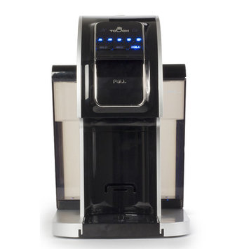 Touch Coffee Makers Single Serve Brewer in Silver Stainless Look T414S