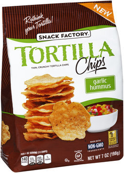 Snack Factory® Garlic Hummus Tortilla Chips 7 oz. Bag