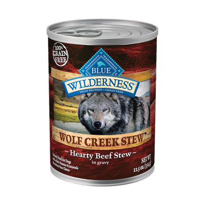 THE BLUE BUFFALO CO. BLUE™ Wilderness® Wolf Creek Stew™ Hearty Beef Stew For Adult Dogs