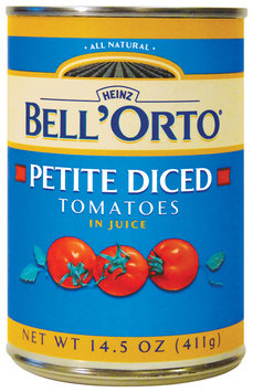 BELL'ORTO Petite Diced In Juice Tomatoes 14.5 OZ CAN