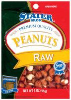 Stater Bros. Raw Peanuts 3 Oz Peg