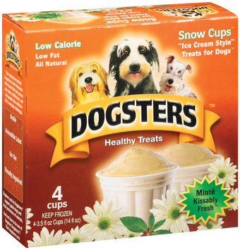 Dogsters 4 Ice Cream Style Snow Cups 4 Ct Treats For Dogs 14 Oz Box