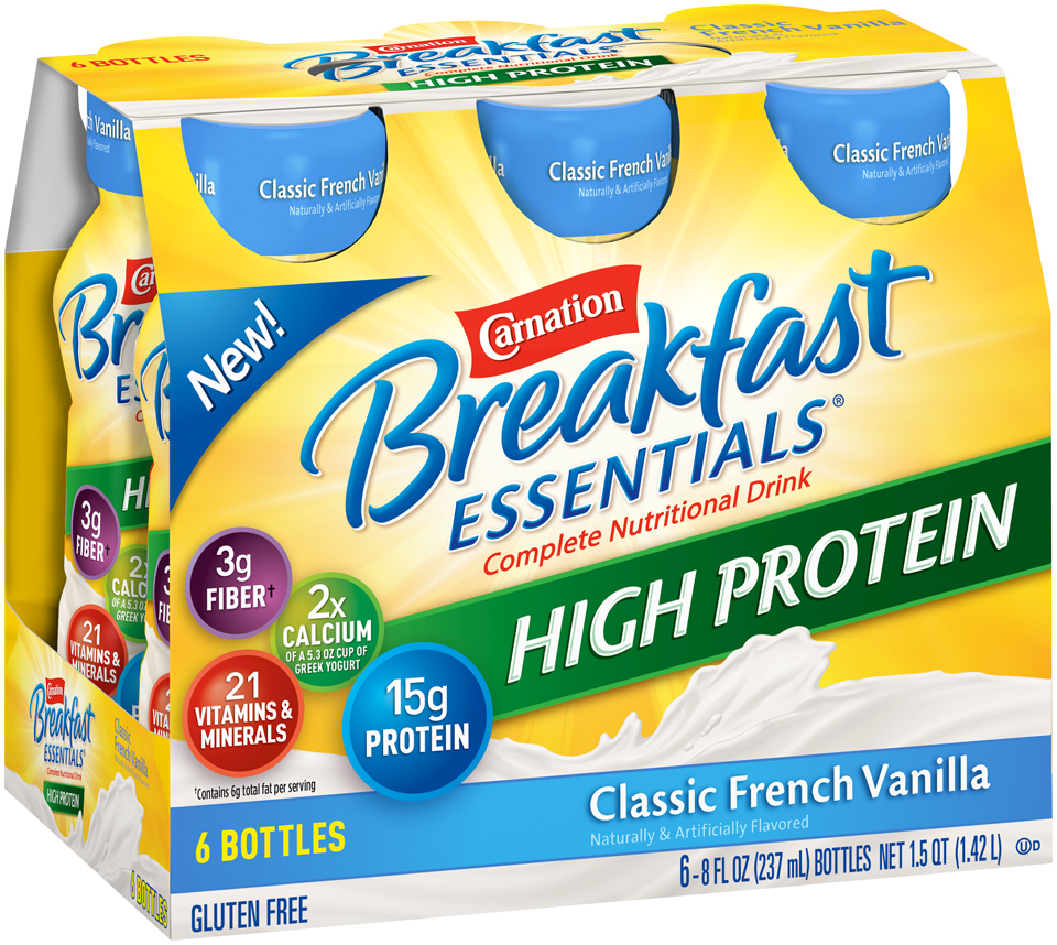 Carnation Breakfast Essentials® High Protein Classic French Vanilla Nutritional Drink
