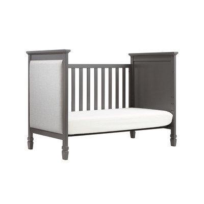 Davinci Lila 3-in-1 Convertible Crib with Mattress Finish: Slate / Pebble Grey