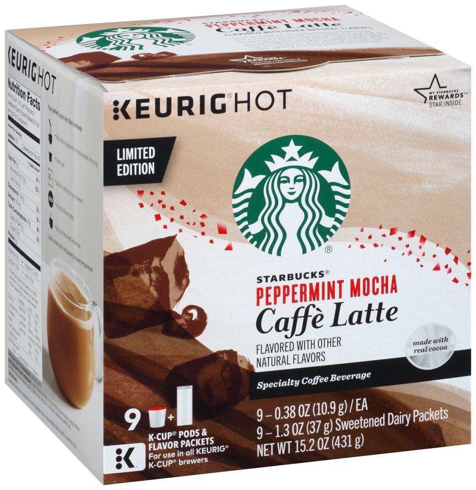 Starbucks Peppermint Mocha Caffe Latte K-Cups