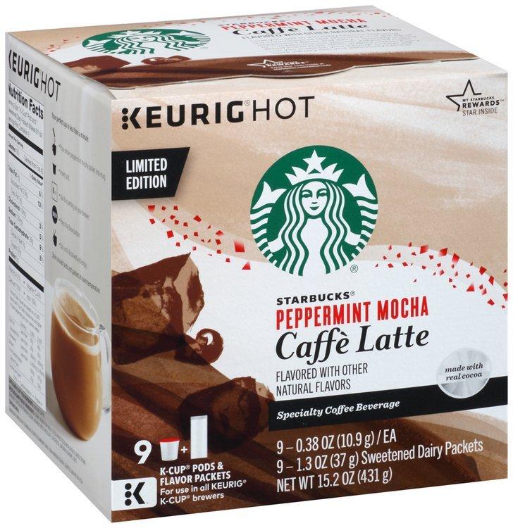 Starbucks® Peppermint Mocha Caffe Latte K-Cup® Pods 9 ct Box