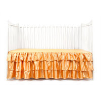 Tadpoles Ruffled Satin Crib Skirt Color: Gold