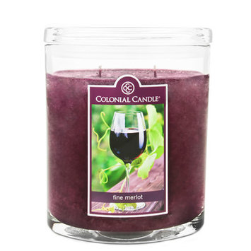 Fragranced in-line Container CC022.584 22oz. Oval Fine Merlot Candles