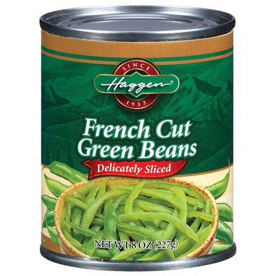 Haggen French Cut Delicately Sliced Green Beans 8 Oz Can