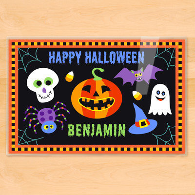 Olive Kids Halloween Black Personalized Placemat