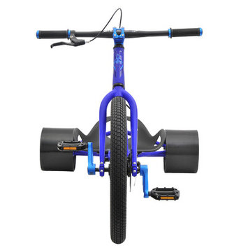 Triad Syndicate 2 Drift Trike Bike Frame Color: Raw/Blue
