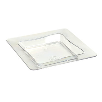Fineline Settings, Inc Tiny Temptations Square Tray (10 Pack) Color: Clear