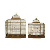 Creative Co-op 2 Piece Haven Decorative Bird Cage