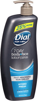 Dial® For Men 7 Day Hydro Fresh Body + Face Lotion