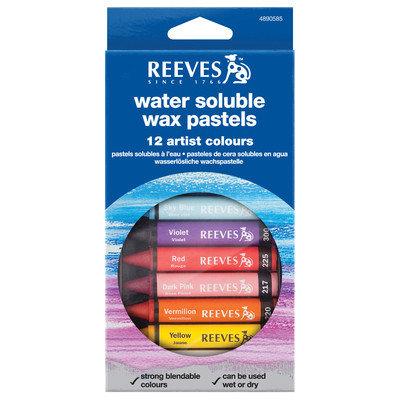 Reeves - Water Soluble Wax Pastels - 12