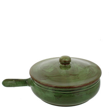 French Home Frying Pan with Lid Color: Cilantro, Size: 5