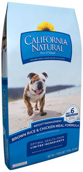 California Natural® Brown Rice & Chicken Meal Formula Weight Management Adult Dog Food