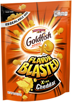 Pepperidge Farm® Goldfish® Flavor Blasted® Xtra Cheddar Baked Snack Crackers 11 oz. Stand-Up Bag