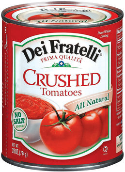 Dei Fratelli Crushed No Salt Added Tomatoes 28 Oz Can