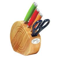 Fiesta Dinnerware Multicolor 5-pc. Prep Set with Natural Block