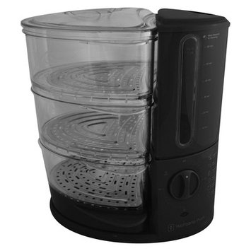 Wolfgang Puck 3-Tier Rapid Food Steamer Color: Black