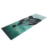 Kess Inhouse Heart Set Sail by Nick Atkinson Yoga Mat