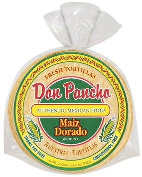 Don Pancho Golden Corn/Maiz Dorado 30 Ct Tortillas 27.6 Oz Bag