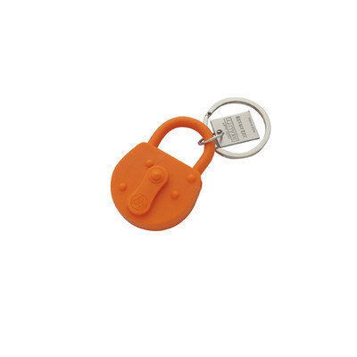 Areaware Lock Keychain Color: Orange
