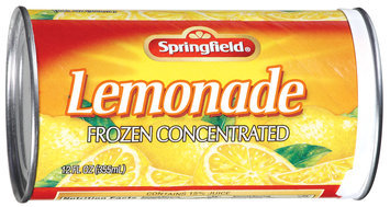 Springfield Frozen Concentrated Lemonade 12 Oz Can