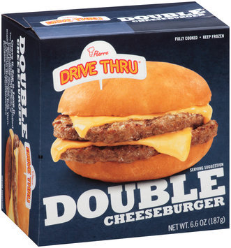 Pierre™ Drive Thru™ Double Cheeseburger 6.6 oz. Box