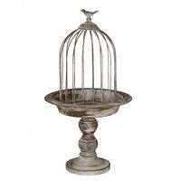 Privilege 18178 10.5 x 10.5 x 20 Medium Silver and Grey Leaf Bird Cage