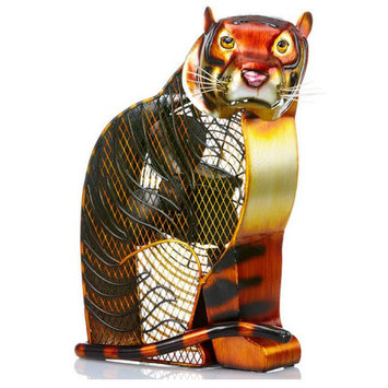 Deco Breeze Bengal Tiger Figurine Table Top Fan