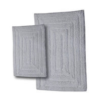 Textile Decor Castle 2 Piece 100% Cotton Racetrack Spray Latex Bath Rug Set, 30 H X 20 W and 40 H X 24 W