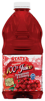 Stater Bros. Pomegranate & Cranberry 100% Juice 64 Oz Plastic Bottle
