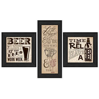 Trendy Decor 4u Deb Strain 'Beer Time' Framed Print Art