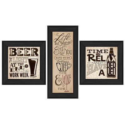 Trendy Decor 4u Deb Strain 'Beer Time' Framed Print Art