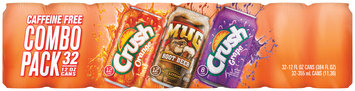 Orange Crush, Grape Crush, Mug Root Beer 12 fl oz 32 Combo Pack