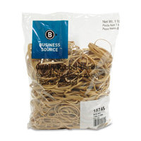 Business Source Rubber Bands, Size 54, 1 lb bag, Natural Crepe