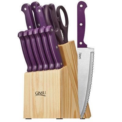Ginsu Essential Series 14 Piece Cutlery Set Color: Purple