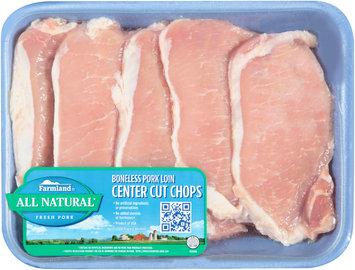 Farmland® Boneless Pork Loin Center Cut Chops Tray
