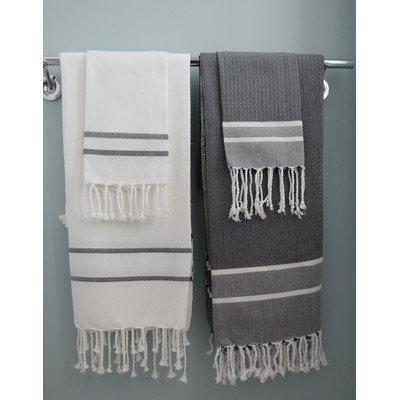 Darby Home Co Stripe 2 Piece Towel Set