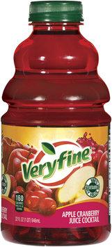 Veryfine Apple Cranberry Juice Cocktail 32 Oz Plastic Bottle