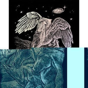 Royal & Langnickel Pegasus Holographic Foil Regular Size Engraving Art Scraperfoil