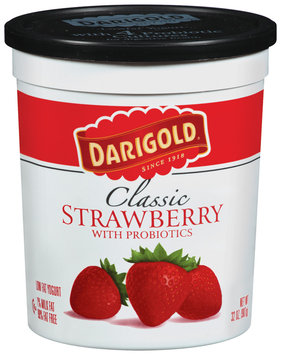 Darigold Classic Strawberry W/Probiotics Lowfat Yogurt 32 Oz Tub