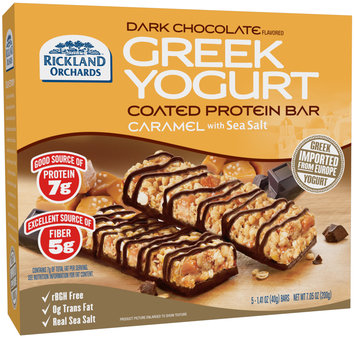 Rickland Orchards™ Dark Chocolate Flavored Greek Yogurt Coated Caramel with Sea Salt Protein Bar