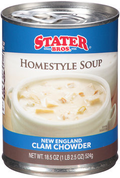 Stater Bros.® New England Clam Chowder Homestyle Soup 18.5 oz. Can