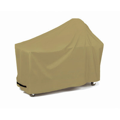Two Dogs Designs Round 62-Inch Grill and Smoker and Table Cover Khaki